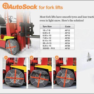 Łańcuchy śniegowe AutoSock dla wózków widłowych